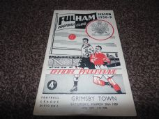 Fulham v Grimsby Town, 1958/59